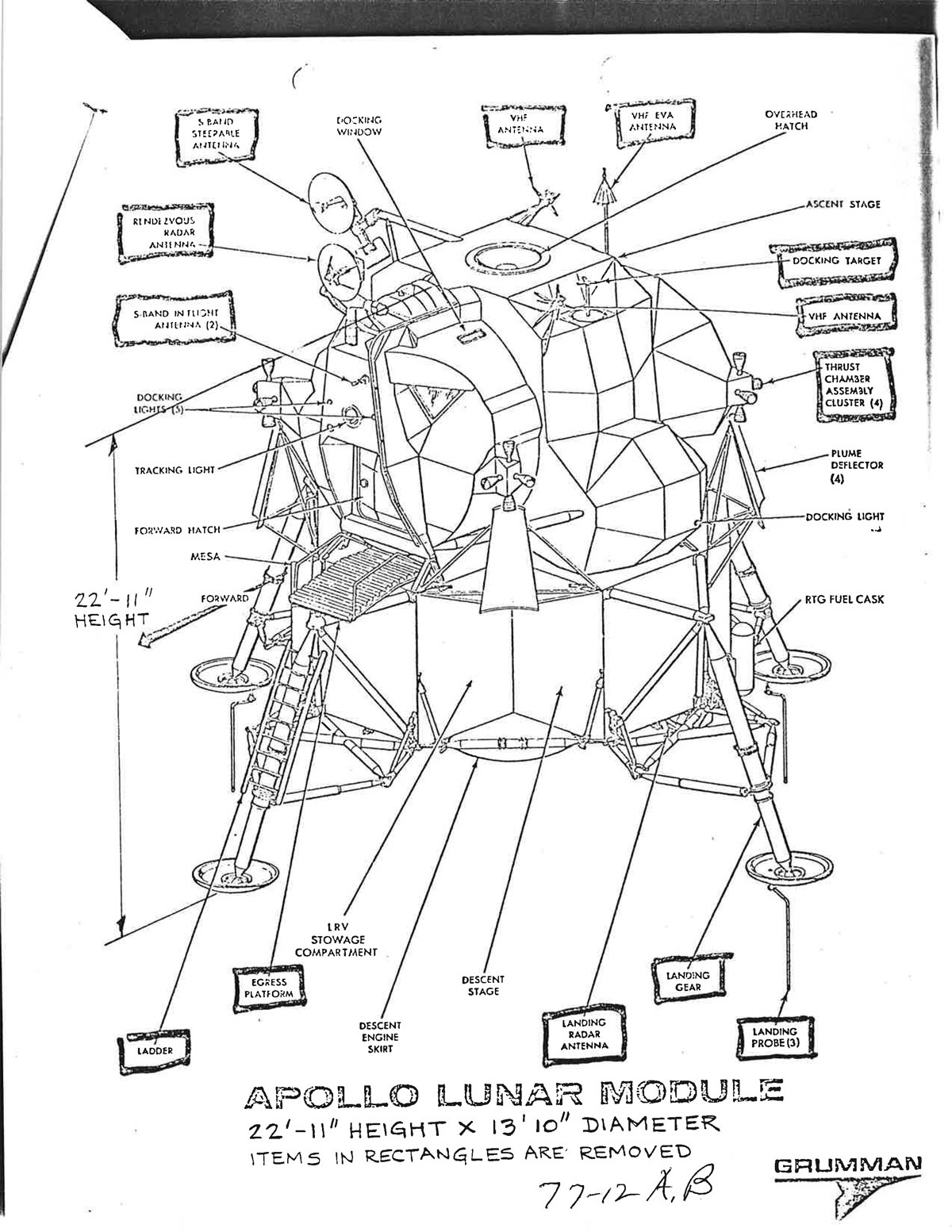 hight resolution of lunar module quick reference data page 2