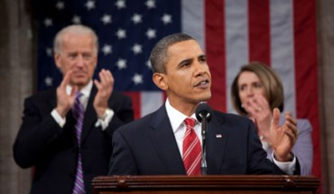 Pres. Obama gives his State of the Union address. flanked by Vicepresident Joe Biden and House Speaker Nancy Pelosi - Photo: WhiteHouse.gov