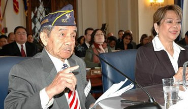 Filipino veteran Franco Arcebal testifies before Congress - Photo: ACFV.