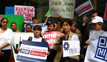Rally outside Sen. Charles Schumer's Manhattan Office