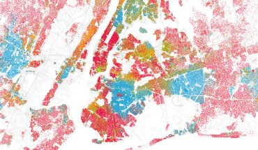 Eric Fischer's map of race and ethnicity in New York City