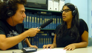 Daniel Alarcón reporting a story for Radio Ambulante