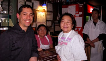 Charles Bibilos with Chef Jeannie Ongkeo at Mangez Avec Moi