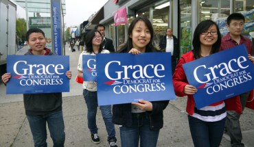 Most of the 250 volunteers are young Asian Americans