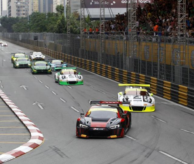 One Audi Crashes One Wins Fia Gt World Cup Qualification Race At Macau Gp