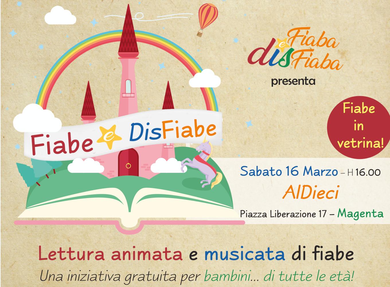banner evento aldieci magenta lettura fiabe con musica da raccolta Fiabe e DisFiabe