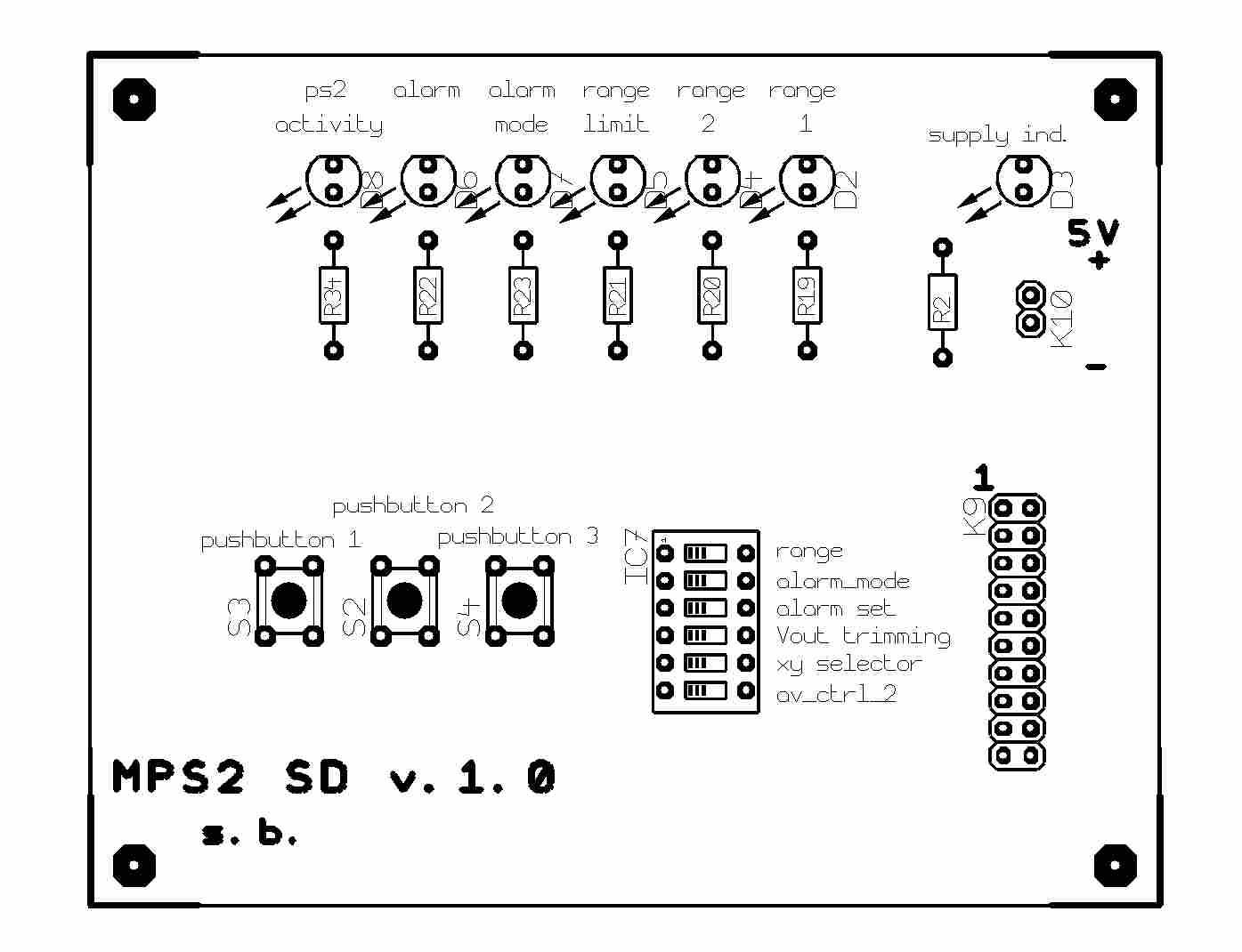 Misuratore di velocità lineare con mouse ottico PS/2 e