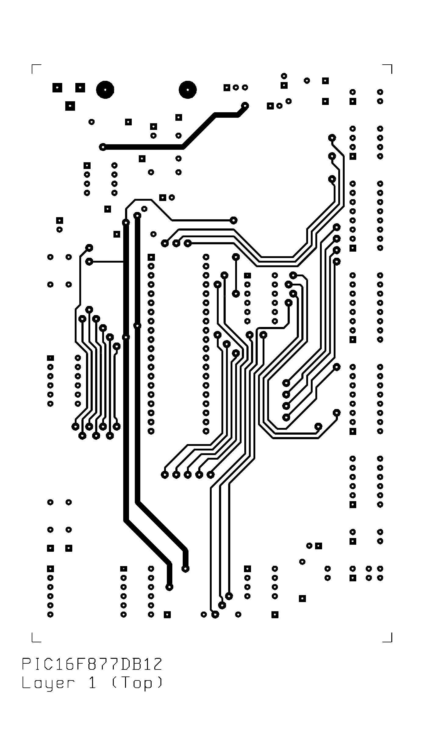 PIC16F877 Development Board v. 1.2
