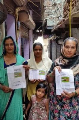 Husholdninger har fått rasjoneringskort i New Delhi. Foto: Marit Erdal