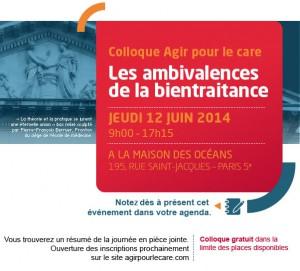 Agir pour le Care - colloque 12 juin 2014