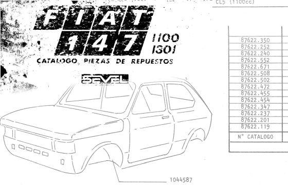 Catálogo de despiece Fiat 147 (1983-1984)