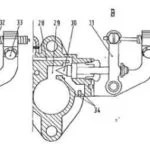 The carburetor of Fiat 500 engine: mixture, air, starter
