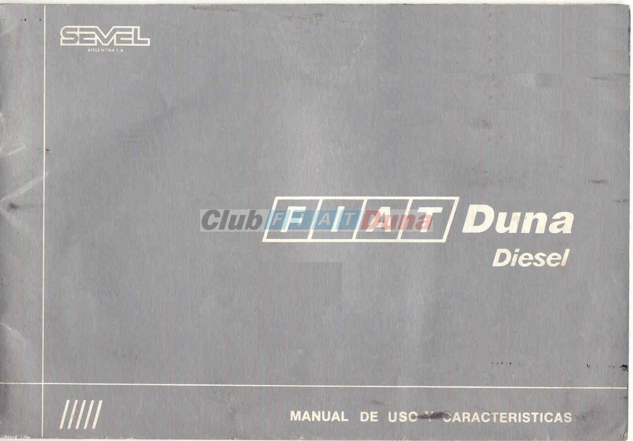 Manual Fiat Duna Diesel 1300 : Manuales del Fiat Duna