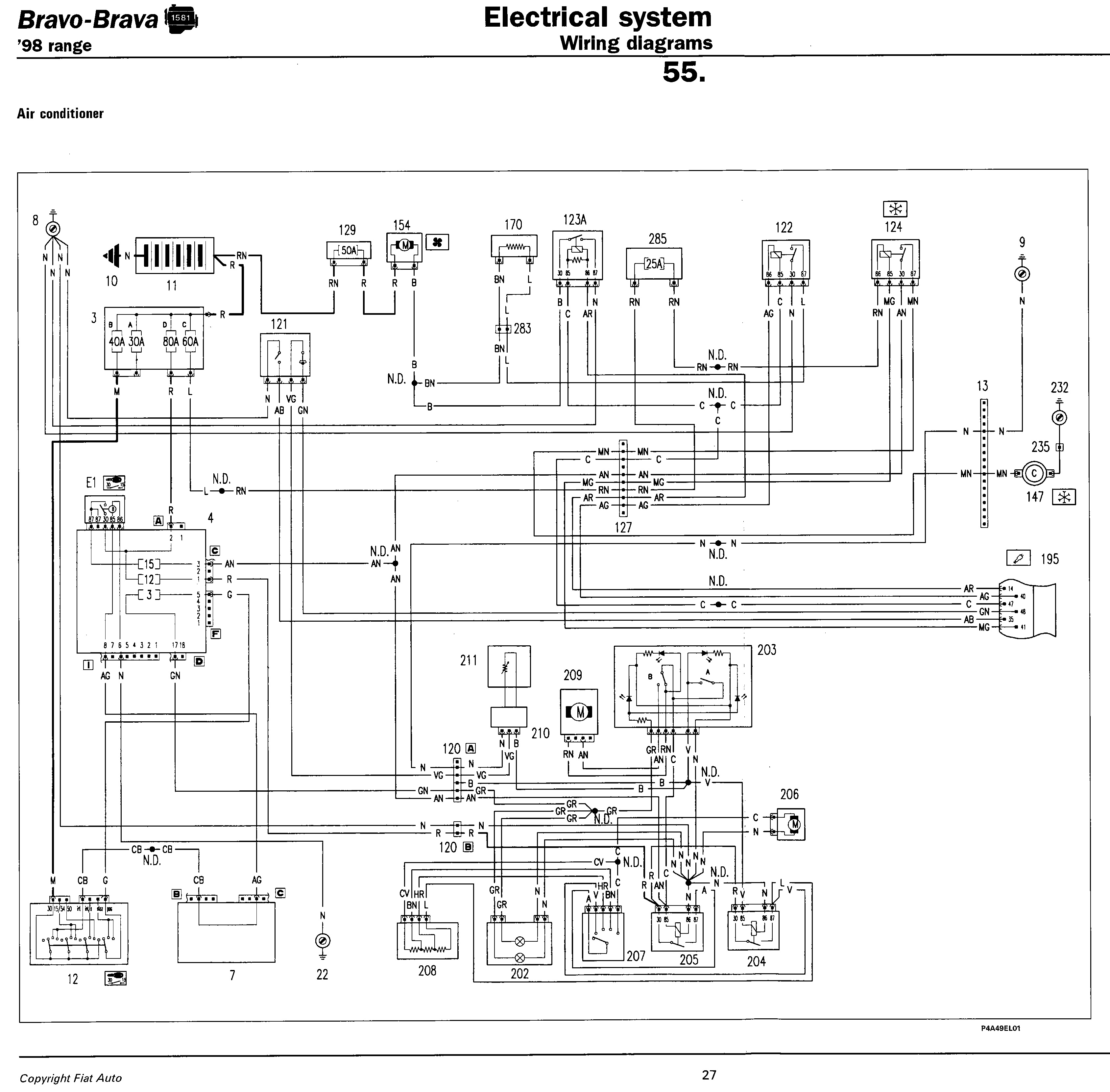 Fiat Punto Starter Motor Wiring Diagram Schematic 2019 Doblo Engine Compartment Fuse Box And Relay Table Electric Diagrams 3 Phase Electrical Grande