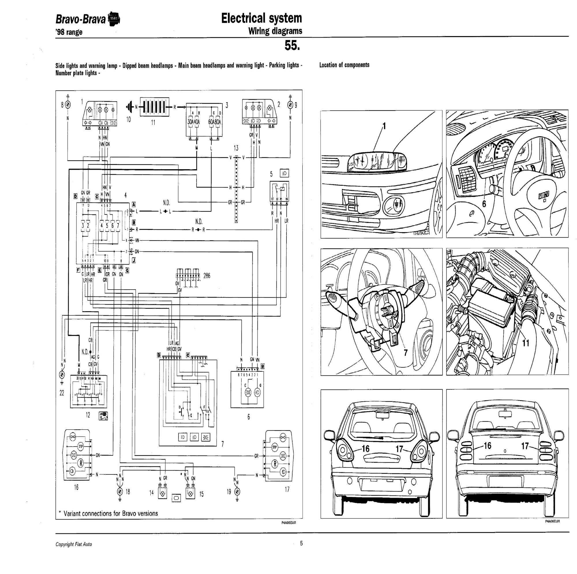 hight resolution of fiat bravo wiring diagram