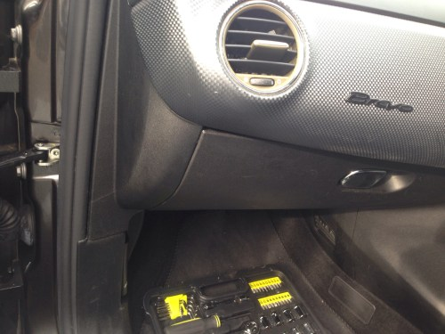 small resolution of next to the glovebox on the left is a plastic panel trim this is coming away next