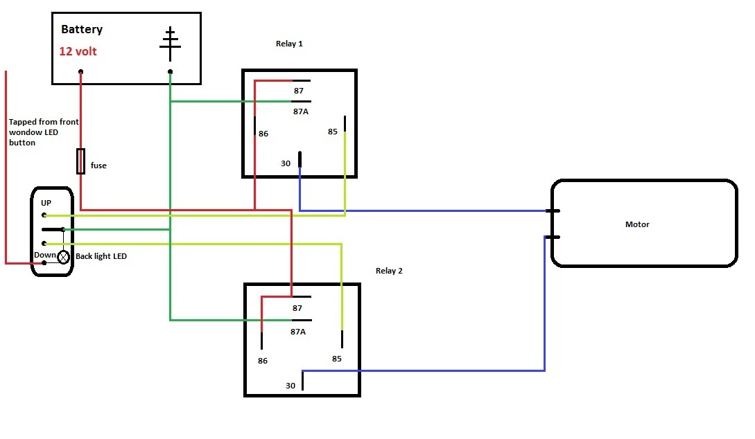 24v relay wiring diagram 5 pin kenwood kdc 252u spal 12 volt great installation of need help with electric windows the fiat 4