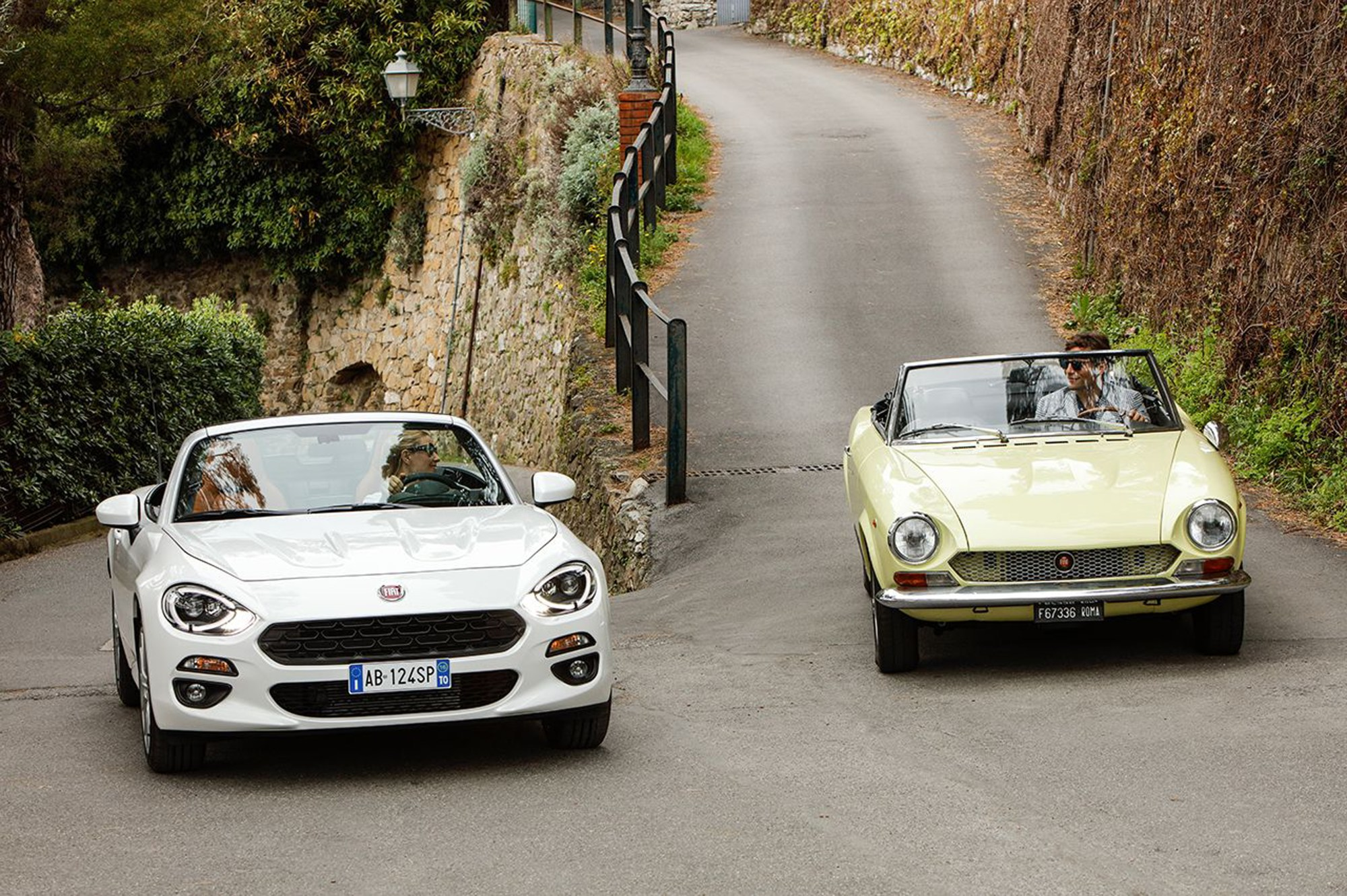 hight resolution of fiat 124 spider celebrates its 50th anniversary