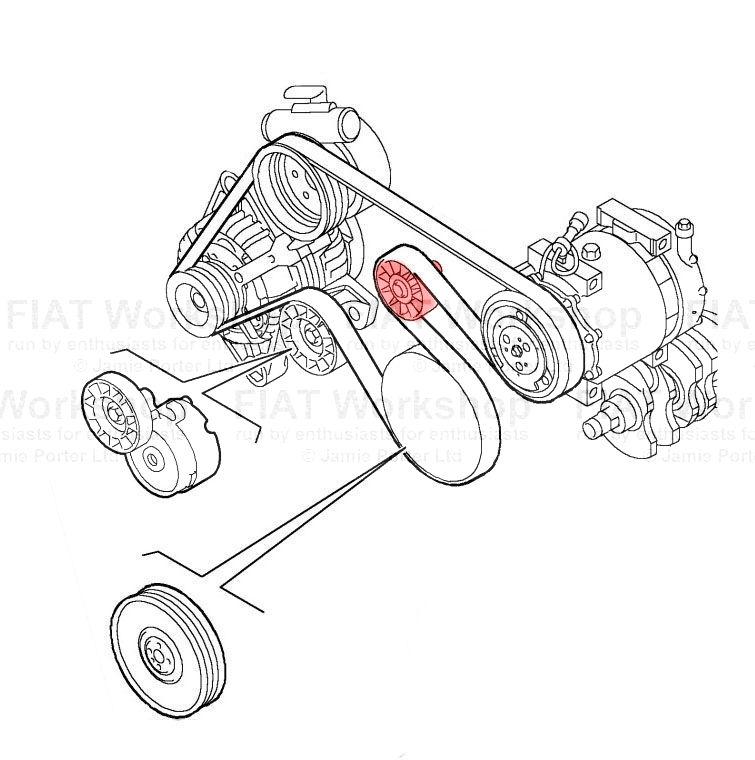 Fiat Multipla Auxiliary tensioner/idler