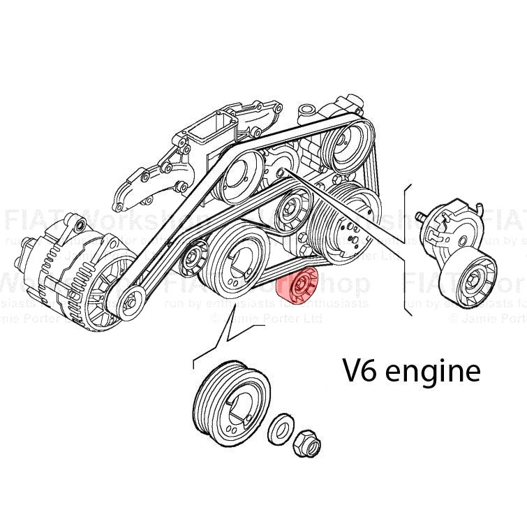 Fiat Punto Auxiliary tensioner/idler
