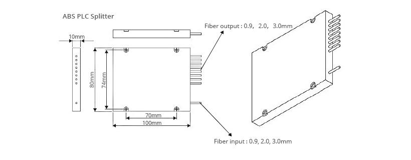 1x4 Fiber Polarization Maintaining(PM) PLC Splitter Slow