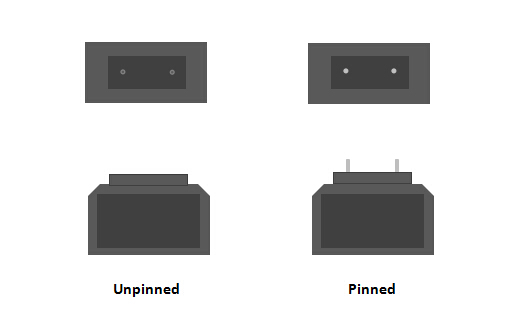 pinned & unpinned connectors