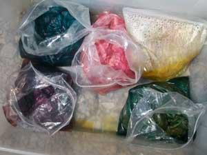 alpaca fiber solar dyeing