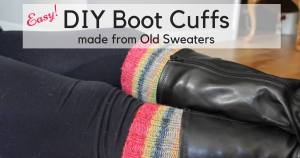 Easy DIY Boot Toppers from a Sweater