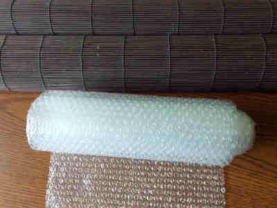 Bubble Wrap and Matchstick Blind used for Wet Felting Wool