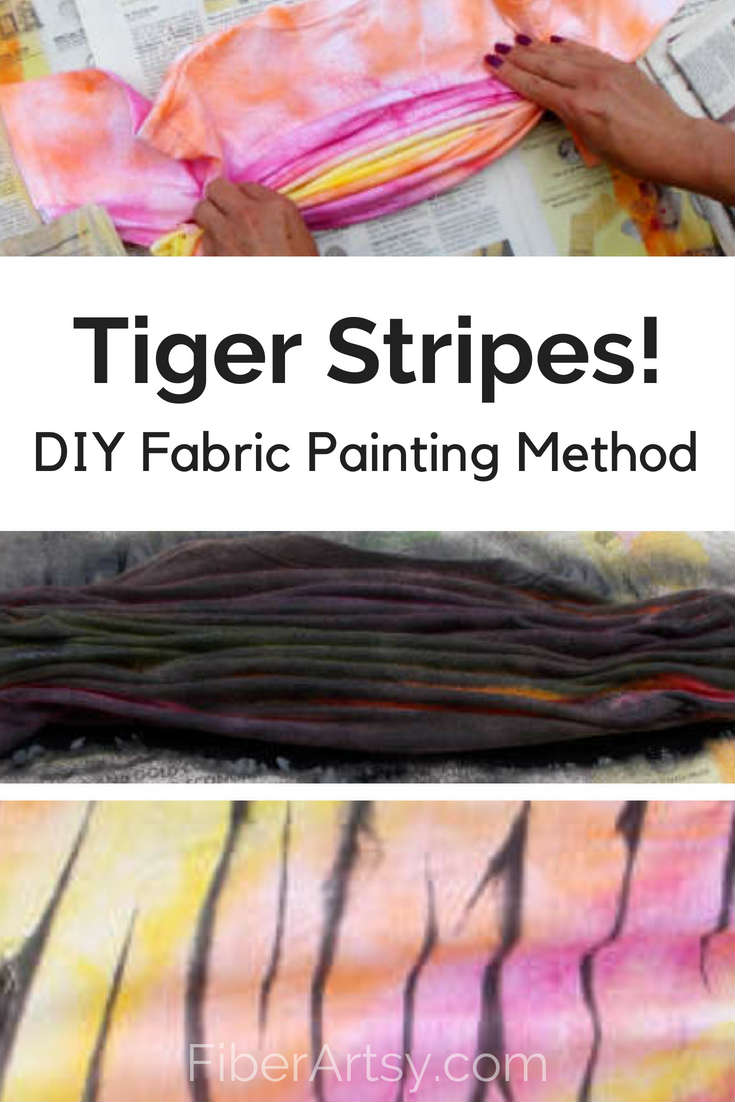 DIY Painted Tiger Stripes,  a fun fabric painting technique. Great Teen project!