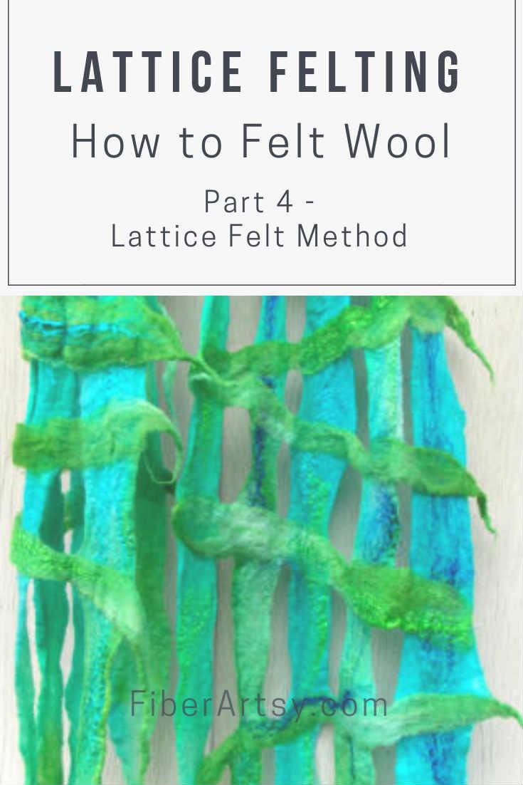 Wool Felting How to Lattice Felt a Scarf with Sheep Wool or Alpaca Fiber. Wet Felting Tutorial