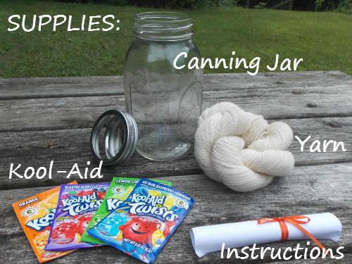 Easy Kool Aid Yarn Dyeing Kit Great Gift Idea