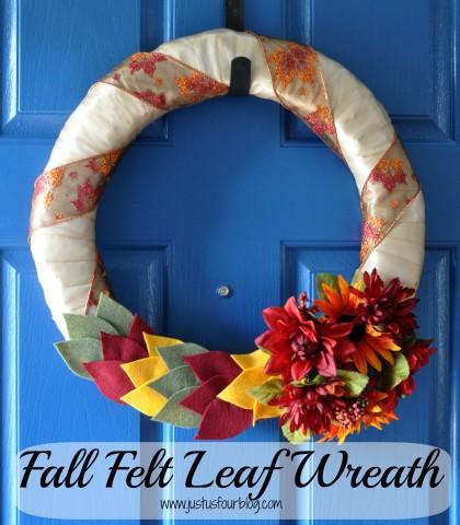 Fall Wreath made with Felt