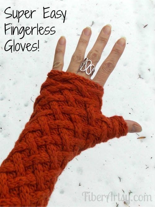 Easy Fingerless Gloves from a Sweater