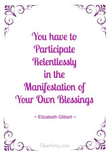Participate in Your Own Blessings