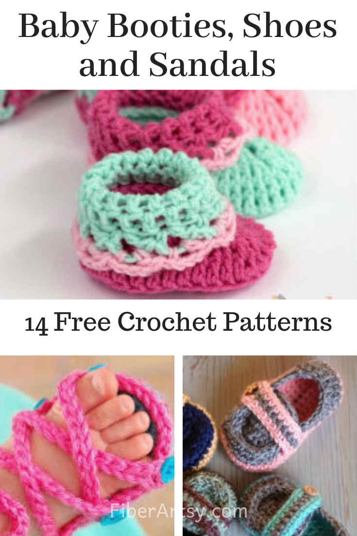 Baby Booties Shoes and Sandals 14 Free Crochet Patterns