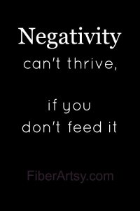 Negativity can't thrive ….