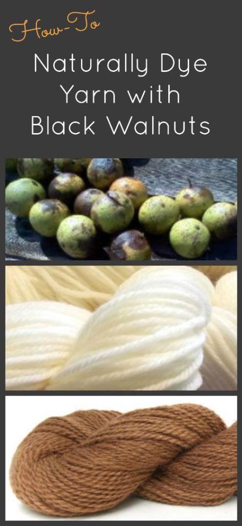 Yarn dyed with black walnuts