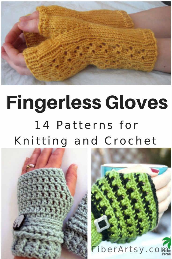 Fingerless Gloves 14 Patterns for Knitting and Crochet