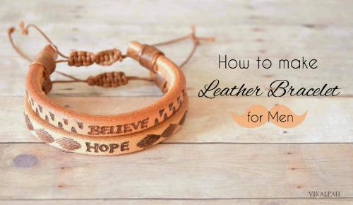 How to Make a Leather Bracelet DIY Gift Idea for Men