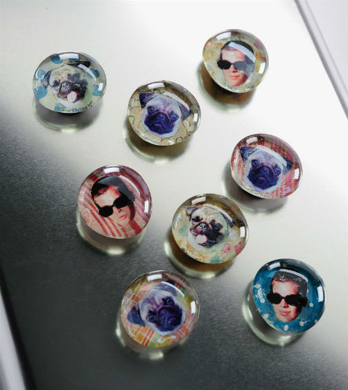 Homemade Photo Magnets