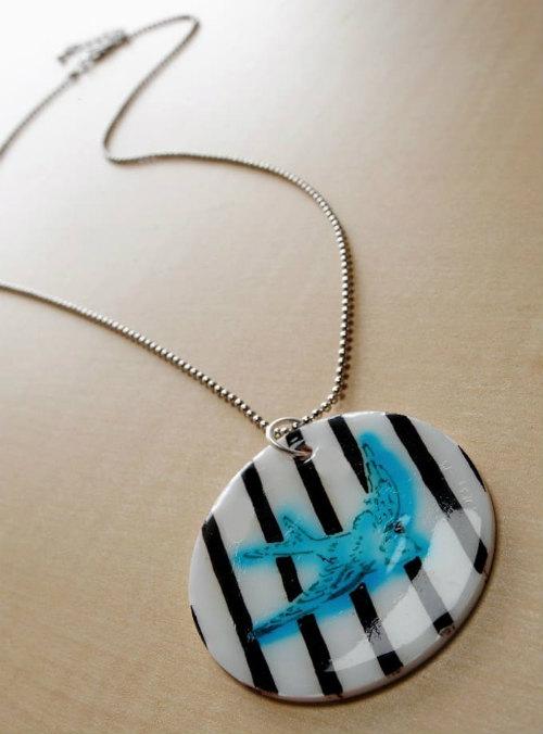 DIY Shrinky Dink Necklace Pendant