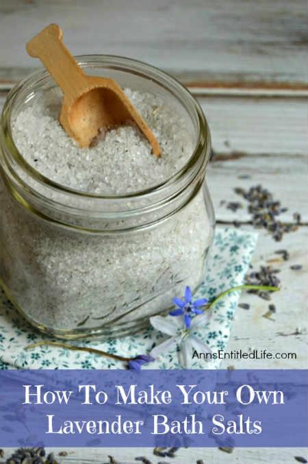 DIY Lavender Bath Salts