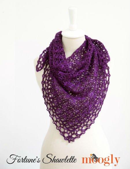 Free Crochet Pattern for Shawls by Moogly