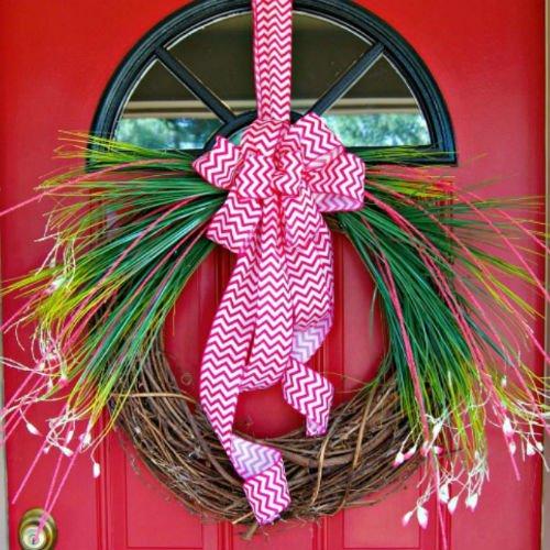 Homemade DIY Spring Wreath