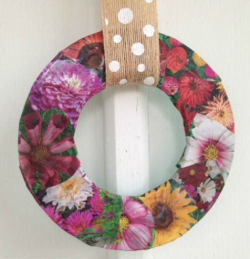 DIY Spring Wreaths, Fiberartsy.com