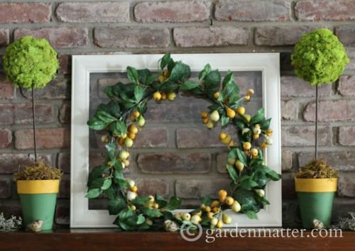 Green and Yellow Wreath for Spring