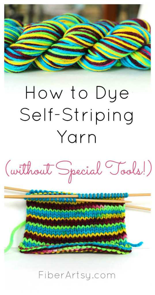 How to Dye Self Striping Yarn without special tools
