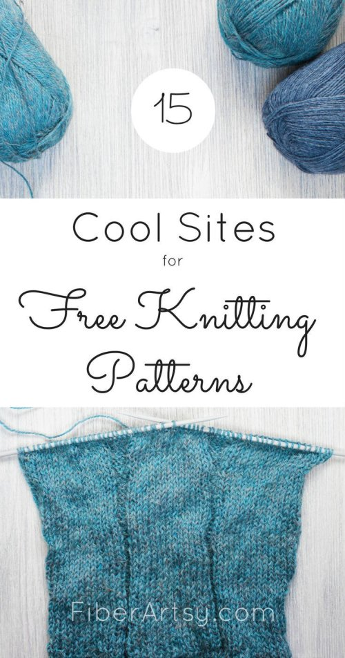Sites for Free Knitting Patterns by FiberArtsy.com