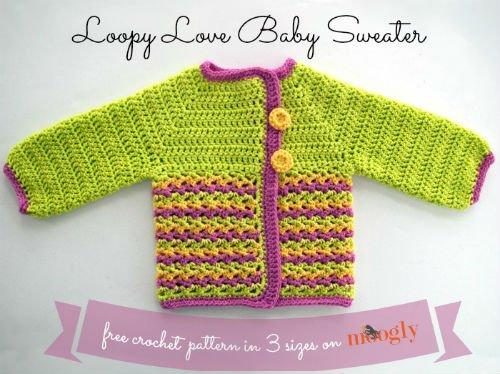 Baby Sweater Pattern for Crochet by Moogly
